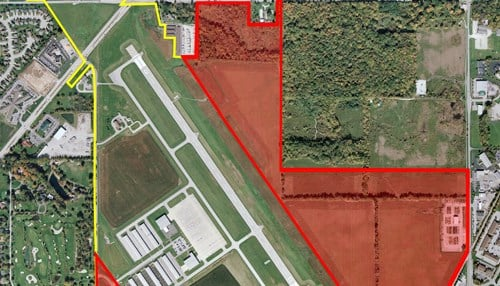 Fishers and airport leaders say there are 200-300 acres of land available for development.