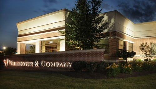 Whitinger, which was founded in 1930, has offices in Muncie (pictured) and Fishers.