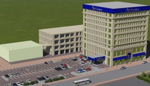 (Rendering Courtesy:Gateway Partners LLC) The first floor of the building has been vacant for years, but now includes a Centier Bank location.