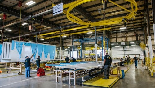 Production has already begun at the company's facility dedicated to truck body production.