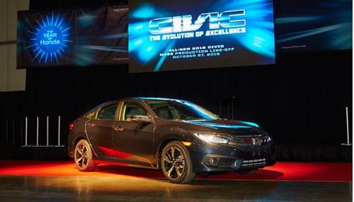 The new Honda Civic will go on sale nationwide in November.