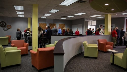 The 3,000 square-foot space was made possible through a grant from IU Kokomo.