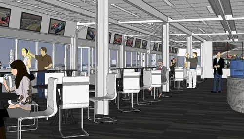 (Hulman Club Rendering Provided by the Indianapolis Motor Speedway.)