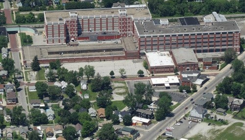(Image of GE Fort Wayne Campus Courtesy: Save Our Fort Wayne General Electric Campus.) The former GE campus is among the potential development targets.