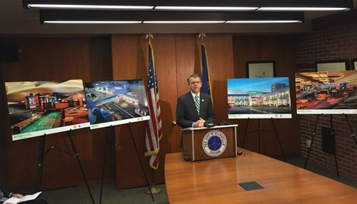 Mayor Lloyd Winnecke joined officials from the city and Tropicana Entertainment in November for the announcement.
