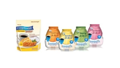 The company produces store and name-brand liquid water enhancers and zero calorie sweeteners.
