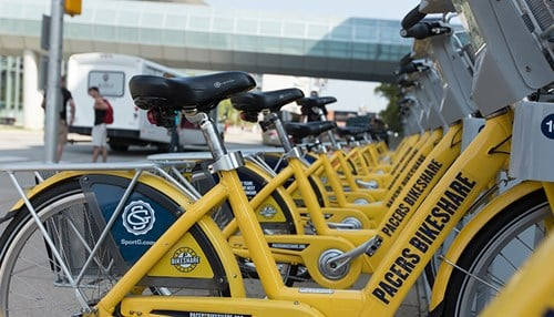 The program includes more than 250bicycles at 27 stations.