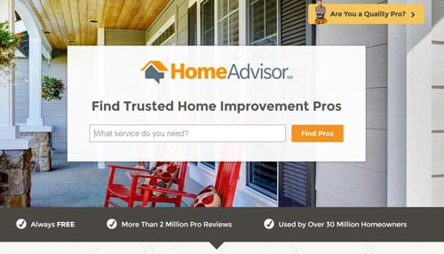 HomeAdvisor says it is used by more than 30 million homeowners.