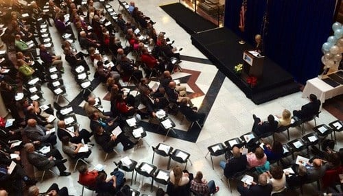 Lieutenant Governor Sue Ellspermann led an awards ceremony Monday at the Statehouse.