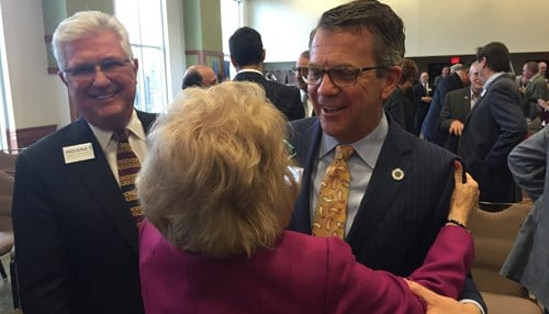 Evansville Mayor Lloyd Winnecke was among a large group from Southwest Indiana in attendance.