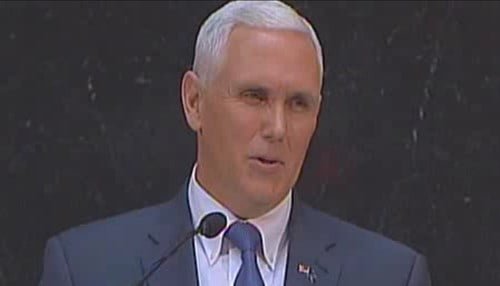 The address was Pence's fourth and final of his inaugural term.