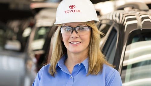 (Leah Curry image courtesy of Toyota Motor Manufacturing Inc.)
