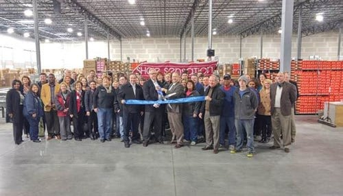 The Wednesday ribbon-cutting included Mayor Mike Moore and officials from the company and One Southern Indiana.