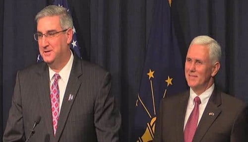 Pence announced Holcomb as his choice last month.