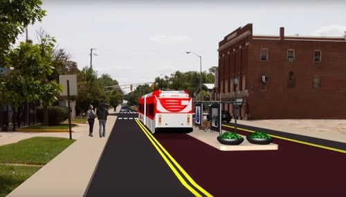 When fully built, the $96 million line would run from Westfield through Carmel and downtown Indianapolis and extend to Greenwood.