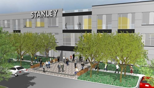 STANLEY Security plans to begin construction on its 80,000 square-foot, three-story building shortly after city council approval.