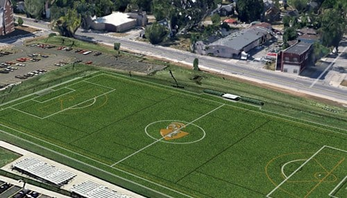 The school says the field will also benefit its physical education department as well as intramural and club sports.