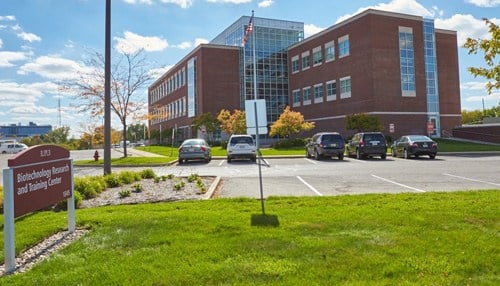 The Indiana Biosciences Research Institute is located in the 16 Tech Biotechnology Research & Training Center.