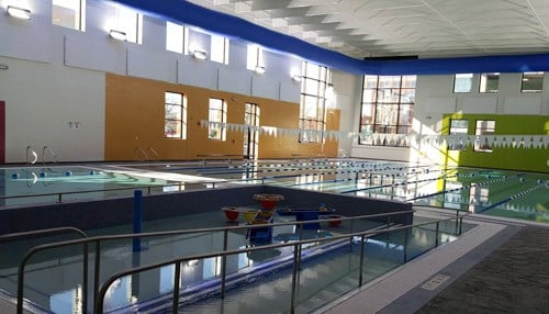 The YMCA's features include an eight-lane lap pool.