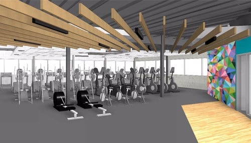 "An expanded fitness center, now known as ""The Gym,"" is one of the many updates."