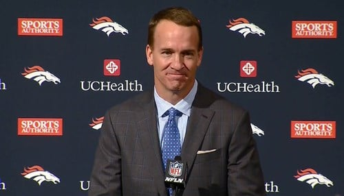 Peyton Manning retired last week after an 18-year career. (photo courtesy WTHR)