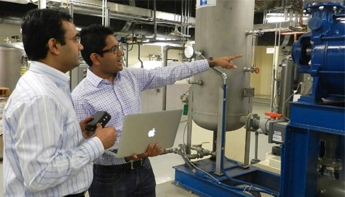 DATTUS CEO Anurag Garg and CTO Lokesh Gupta (photo courtesy Purdue University)