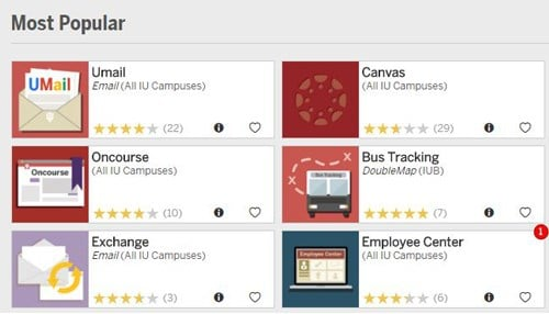 The program give easy access to campus services across all of IU's campuses.