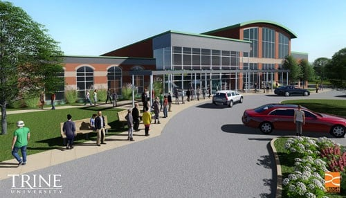 Trine will house an esports facility inside the MTI Center, which is currently under construction.