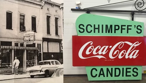 In honor of the 125th anniversary of the business, the Schimpffs will unveil a sign (pictured right) reminiscent of a sign that adorned the shop into the 1970s.