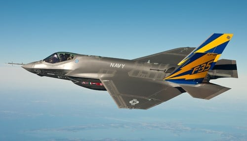 The contract calls for work to be done in support of the F-35 Lightning II fighter jet.
