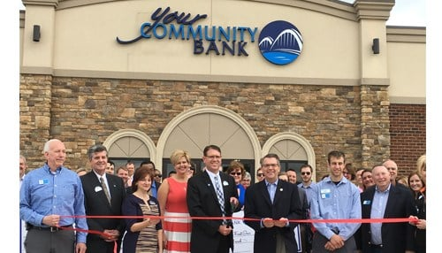In April, Your Community Bank celebrated the opening of its first Evansville location.