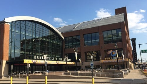 Play begins at Bankers Life Fieldhouse on Friday.