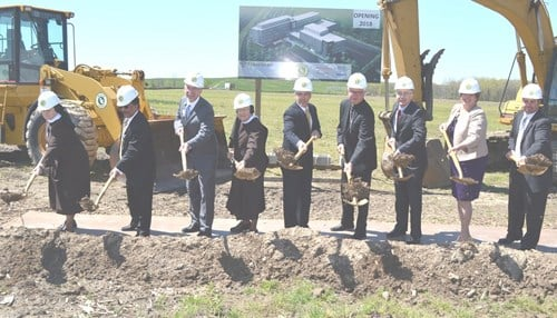 Officials broke ground on the hospital in May 2016.