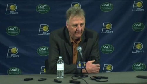 Larry Bird first came to the Pacers as head coach in 1997.