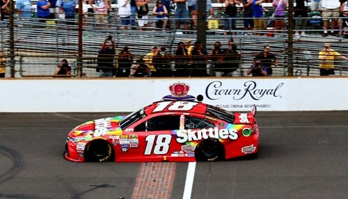 Kyle Busch will attempt to become the first driver to win the race three years in a row.