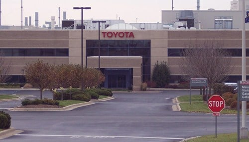 The Toyota Motor Manufacturing Indiana plant is located in Princeton.