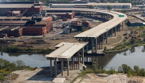 The previous bridge was demolished in 2013. (file photo courtesy The Times of Northwest Indiana)