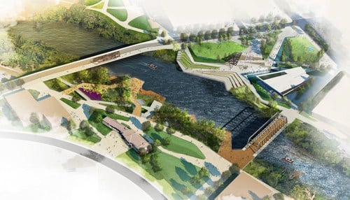 The first phase of the Riverfront project is expected to begin this month.