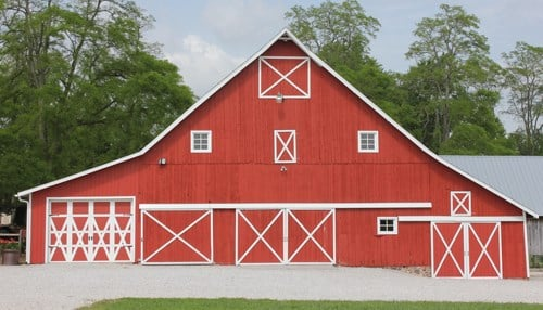 The farm's pin-frame barn, built in 1888, received a major renovation in 2010.