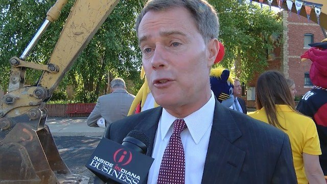 Indianapolis Mayor Joe Hogsett at the the official ground breaking of the Sports Legends Experience at the Children's Museum.