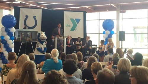 Colts quarterback Andrew Luck and Indianapolis Mayor Joe Hogsett also took part in the event.