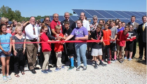 More than 100 school children joined IMPA officials for the ribbon cutting.