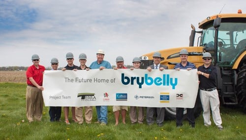 Brybelly officials broke ground on the facility in May.