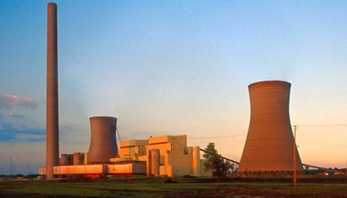 The Rockport Generating Station is I&M's lone coal-fueled power plant in Indiana. (photo courtesy AEP)