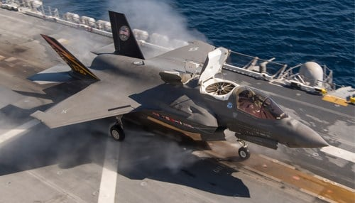 Rolls-Royce will provide upgrades to its LiftSystem propulsion system for the F-35B Lightning II aircraft. (photo courtesy Lockheed Martin)