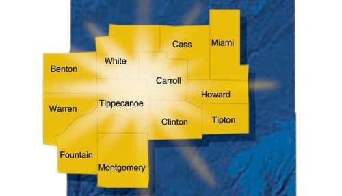 The board covers 12 counties in west central Indiana.