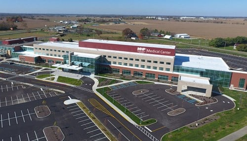Major Hospital in Shelbyville is one of the Indiana representatives on the list. (photo courtesy Major Health Partners)