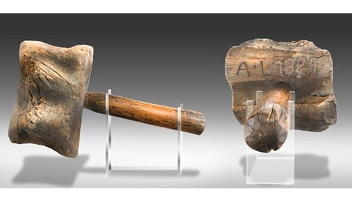 The Indiana State Museum's collection includes a mallet created by Lincoln nearly 190 years ago. (photo courtesy Indiana State Museum)