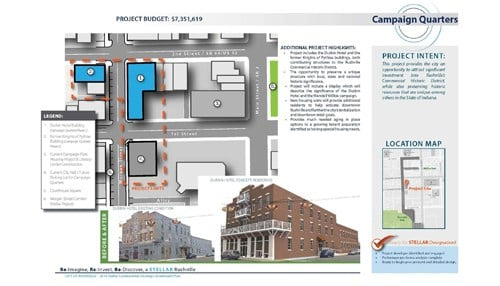 The Campaign Quarters project in Rushville is one of the recipients. (image courtesy city of Rushville)