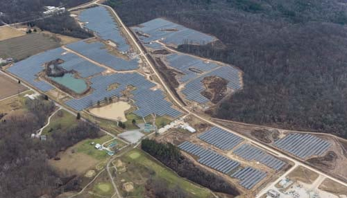 The facility consists of about 72,000 solar panels on 145 acres of land. (photo courtesy Duke Energy Indiana)